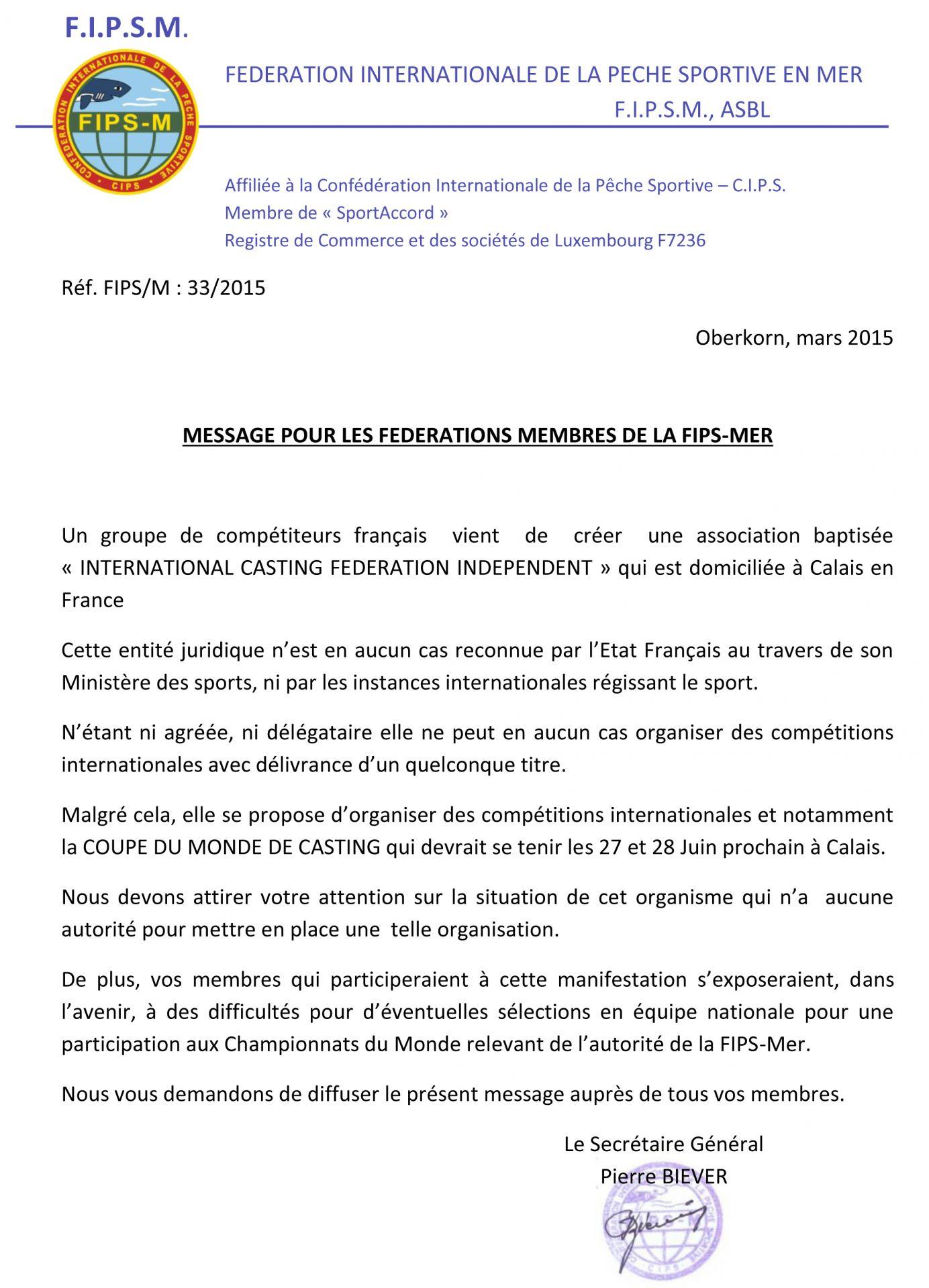 Lettre d'information de la FIPSM concernant l'ICFI 5540ceb13a745