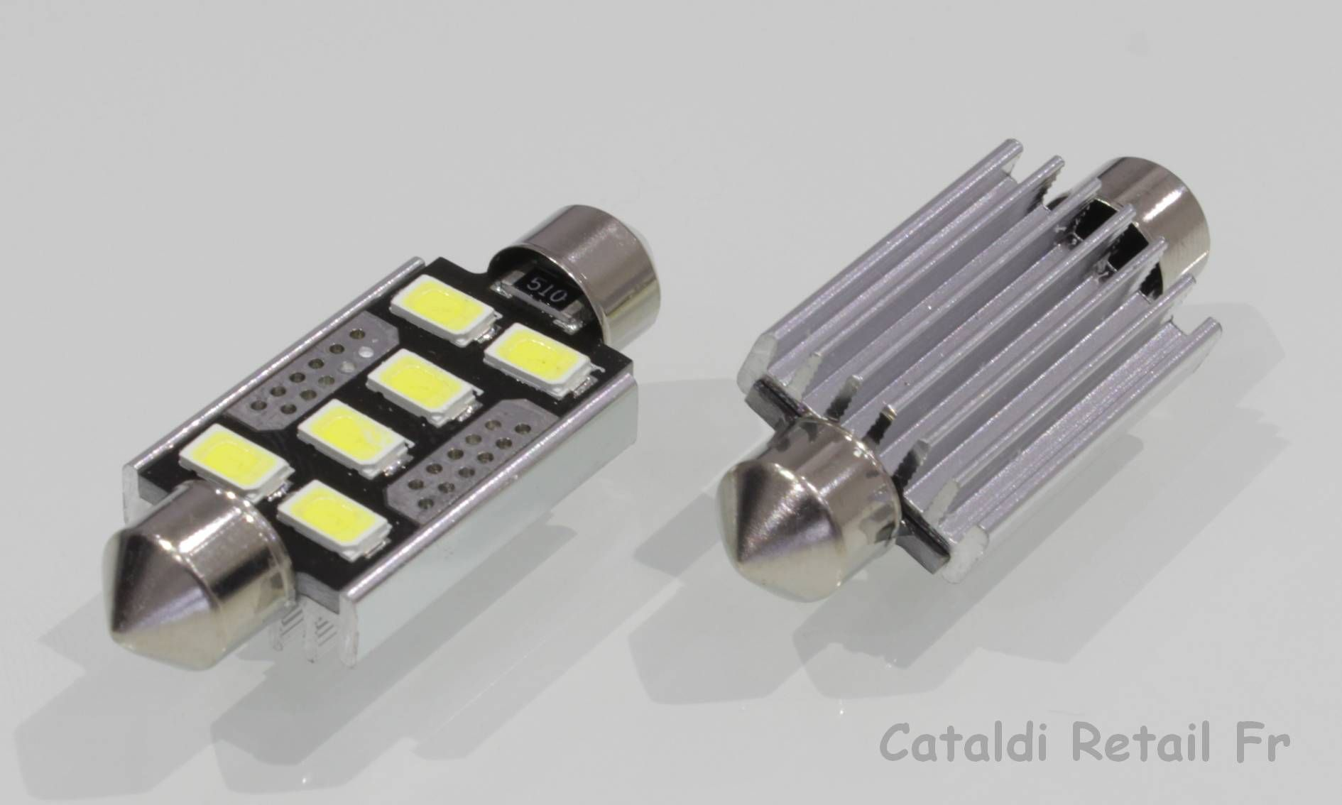 2 x navettes led c5w 6 smd 41 mm canbus anti erreur odb blanc pur france ebay. Black Bedroom Furniture Sets. Home Design Ideas