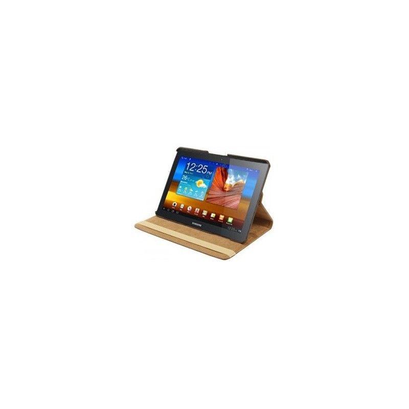 Housse marron rotatif 360°et coque support pour Samsung Galaxy Tab 2 10.1 pouce