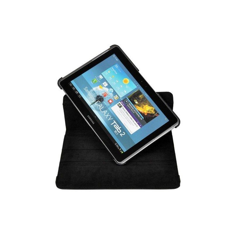 Housse noir rotatif 360°et coque support pour Samsung Galaxy Tab 2 10.1 pouce