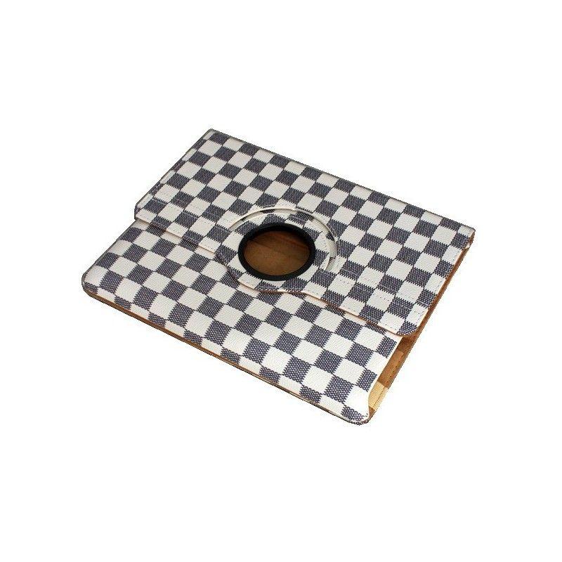 Housse blanc rotatif 360°et coque support pour Ipad 2/3/4