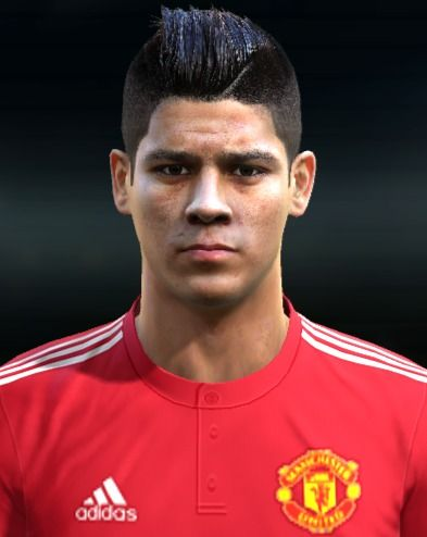 marcos rojo face for pro evolution soccer pes 2013 made by ilhan
