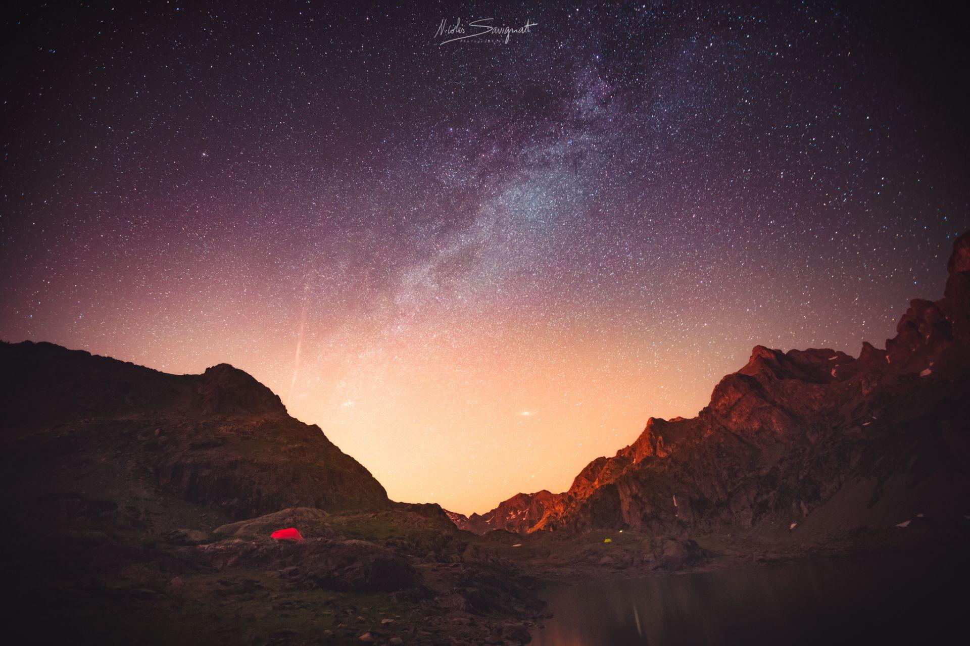 Nuit étoilée en montagne - Les photographes de Joomeo : Paysages et lumière de ©Nicolas Savignat