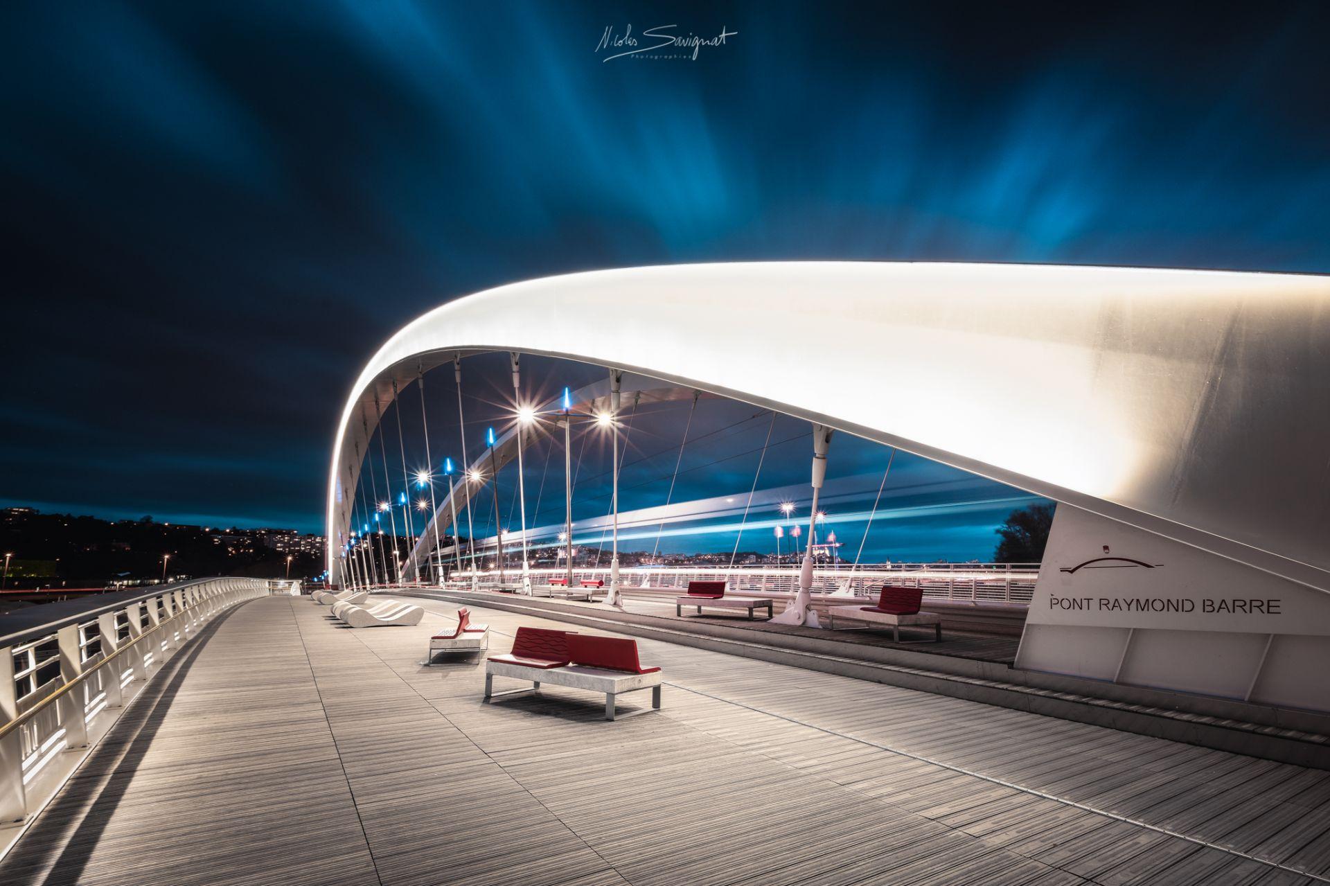 Pont Raymond Barre à Lyon - Les photographes de Joomeo : Paysages et lumière de ©Nicolas Savignat