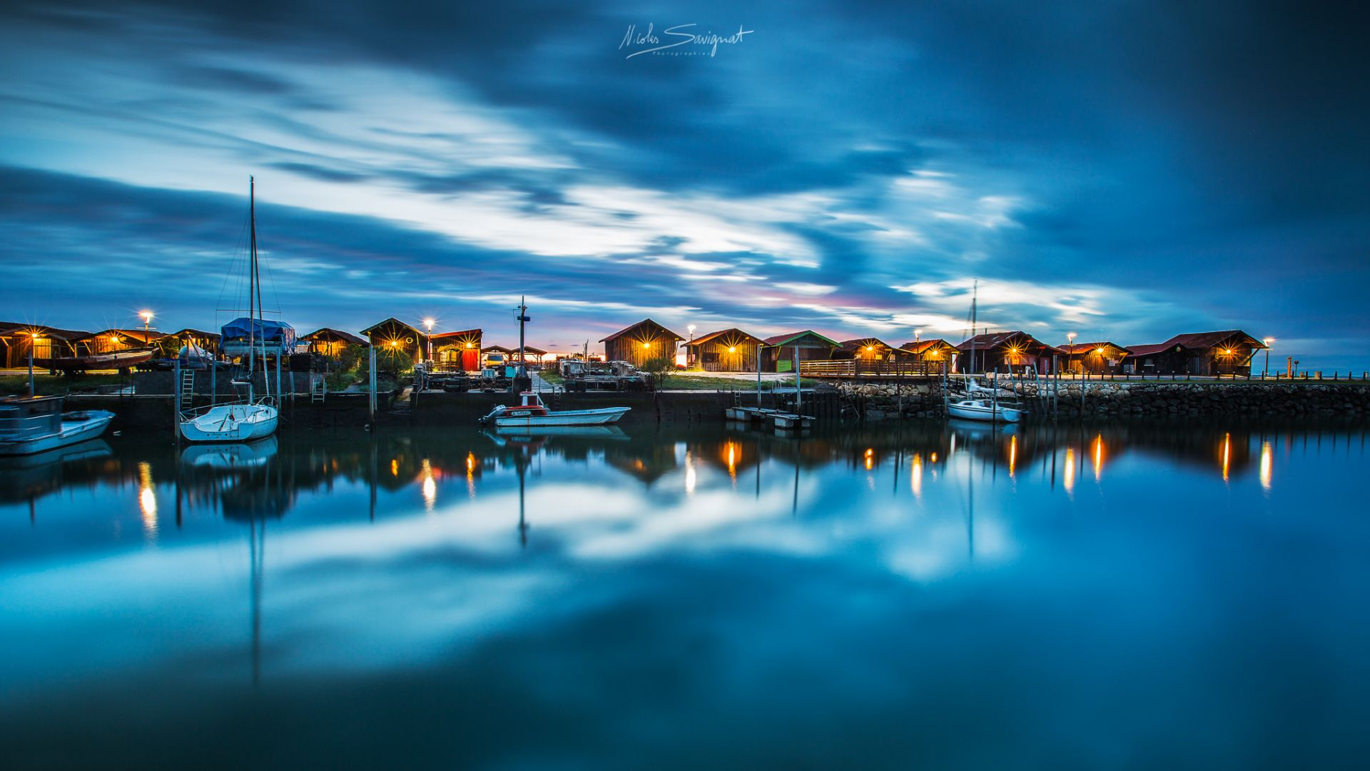 Port de nuit dans le Bassin d'Arcachon - Les photographes de Joomeo : Paysages et lumière de ©Nicolas Savignat