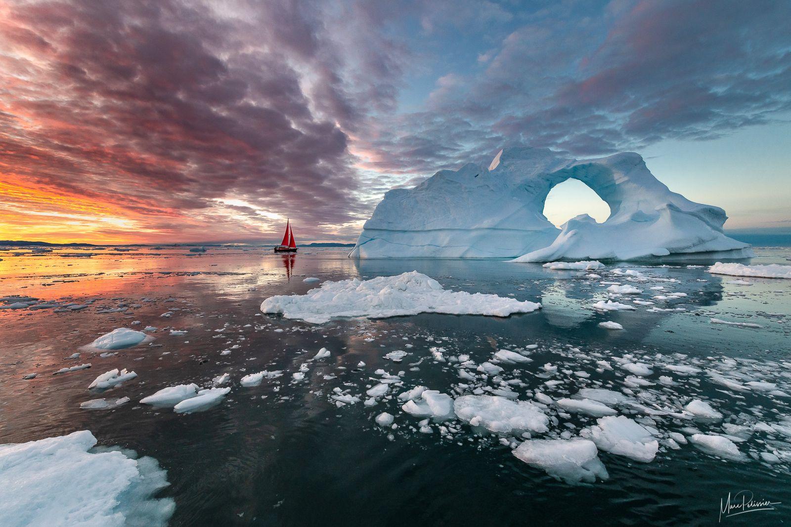 Un voilier au Groenland - ©Marc Pélissier