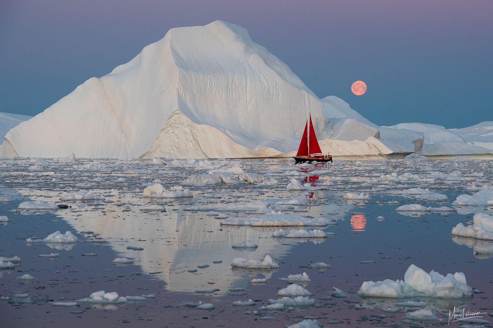 Lever de lune Groenlandais - ©Marc Pélissier