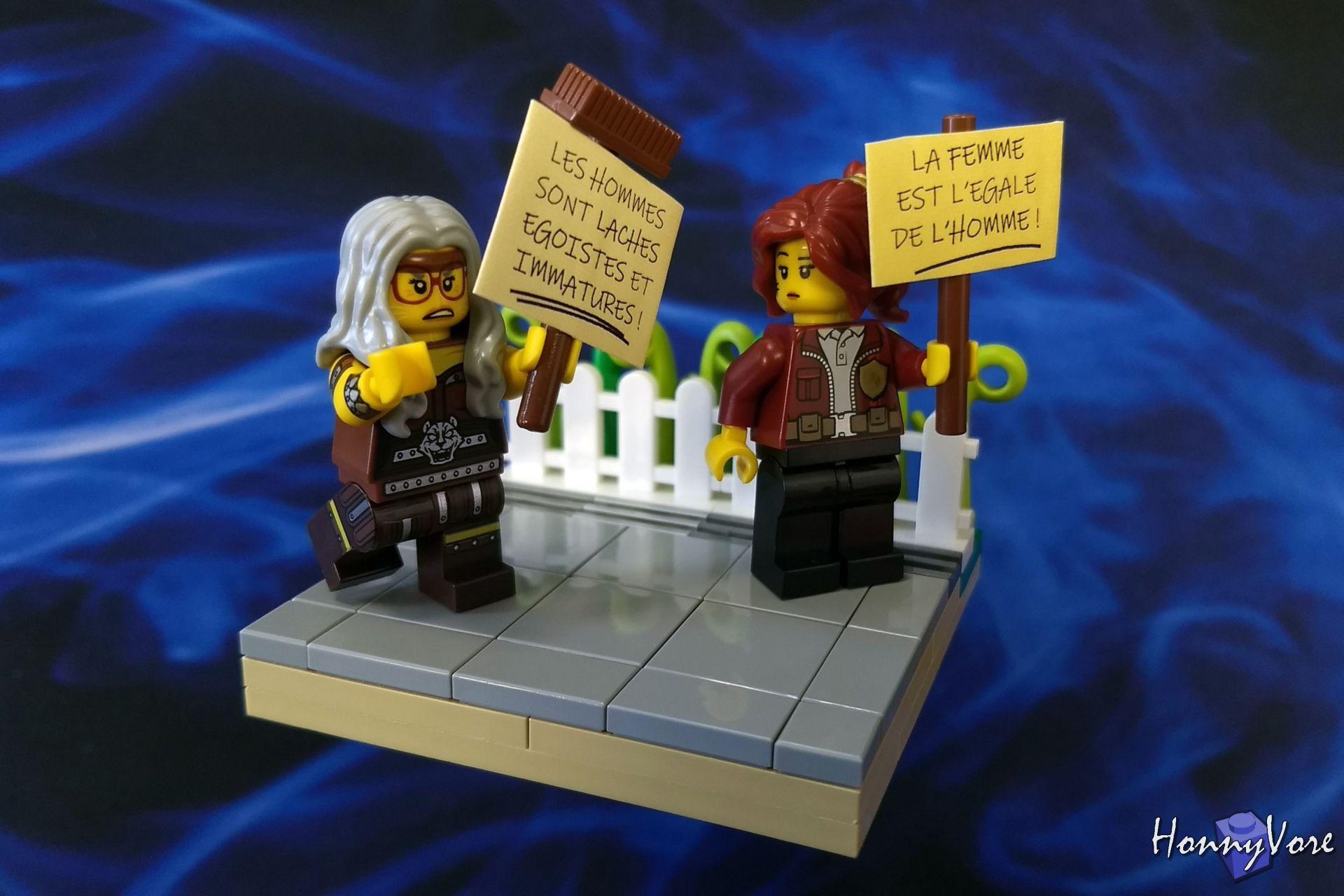 La mise en scène des figurines Lego©, un mélange d'expressions et de positions à maîtriser.