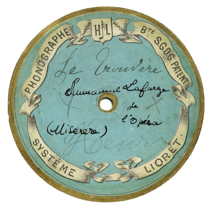Cylindre Lioret Le Miserere du Trouvère de Verdi par Emmanuel lafarge.