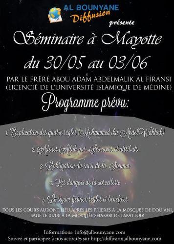 Séminaire Mayotte