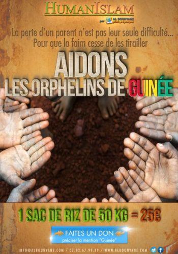 Du riz pour les orphelins de Guinée