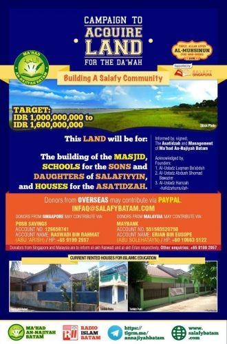 Soutenez le projet de village sounna à Batam (Indonésie)